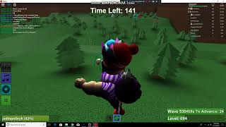 roblox zombie rush part 2 ending wave of 590