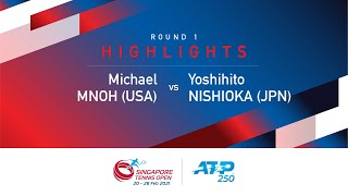 Match Highlights | Round 1 Y Nishioka defeated M Mmoh | ATP 250 Singapore Tennis Open 2021