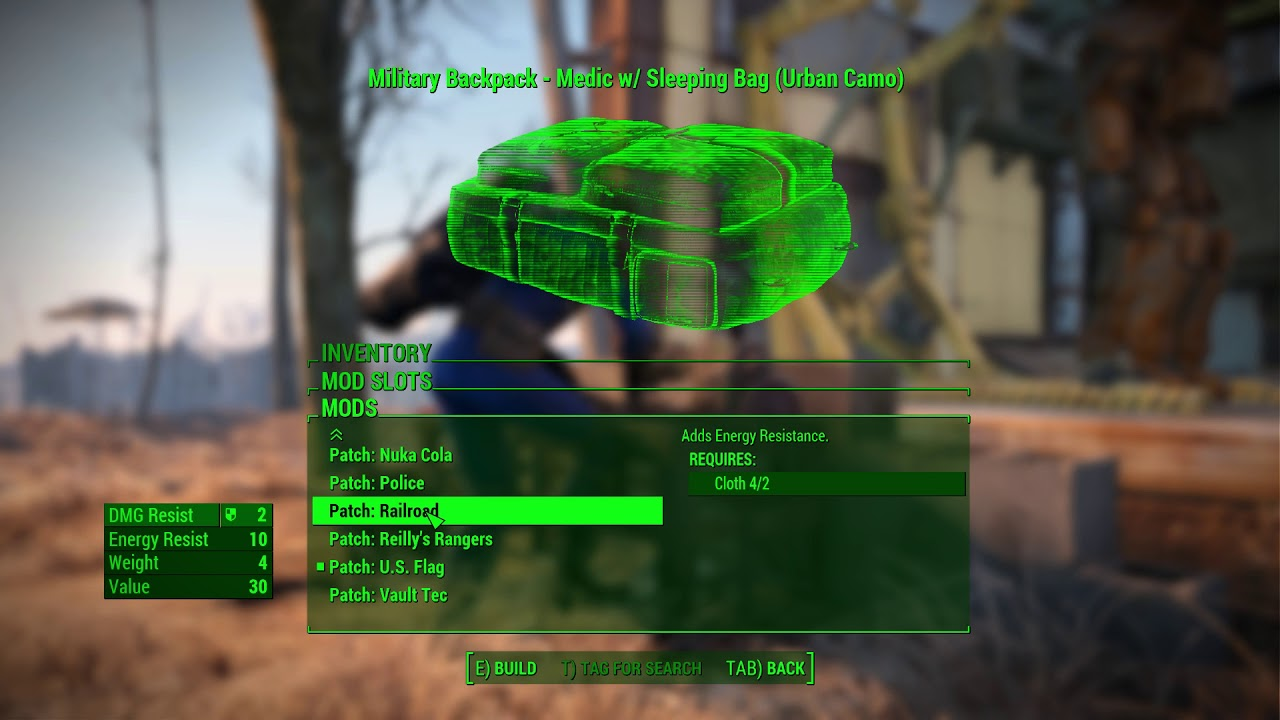 e3c66c8a2a26 Fallout 4 Creation club military backpack worth it  - YouTube