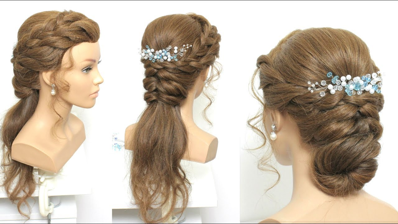 2 simple party hairstyles long