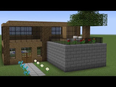 Minecraft How To Build A Small Wooden House Youtube