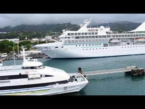 Papeete, Tahiti, French Polynesia - Aremiti Ferry 2 Papeete Departure HD (2017)