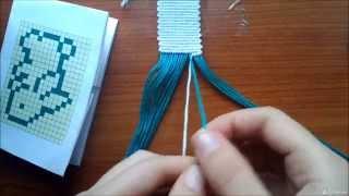 Как плести фенечки прямым плетением