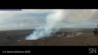 Watch Kilauea's summit caldera collapse   Science News