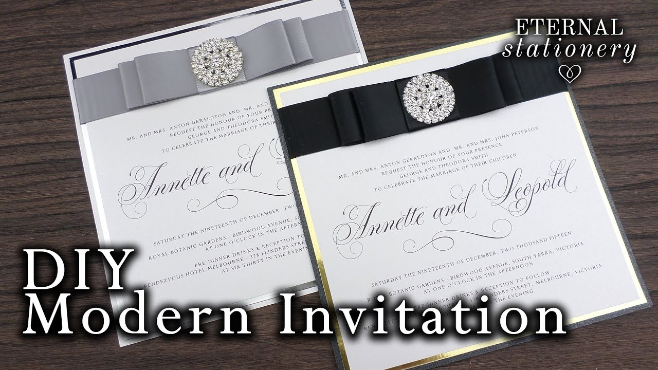 How To Make Elegant Modern Wedding Invitations Diy Invitation You