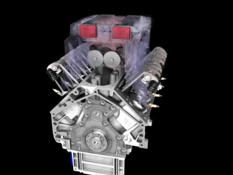 """Simply awesome animated CGI Corvette ZR1 LS9 supercharged engine """"build"""""""