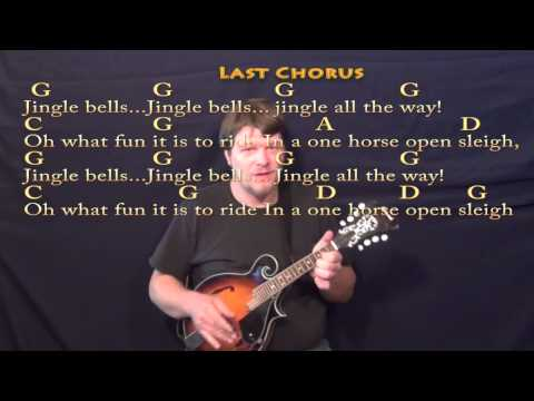 Jingle Bells (Christmas) Mandolin Cover Lesson w/ Lyrics/Chords
