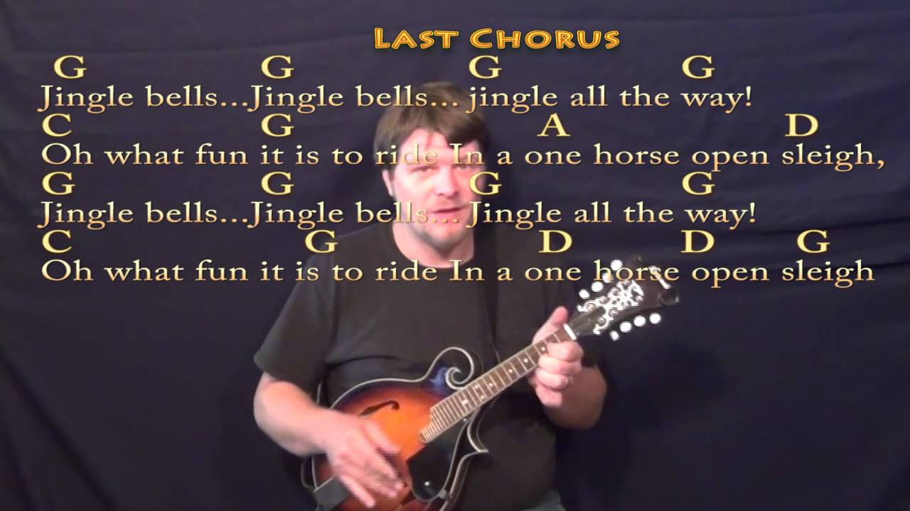 Jingle Bells Christmas Mandolin Cover Lesson W Lyricschords