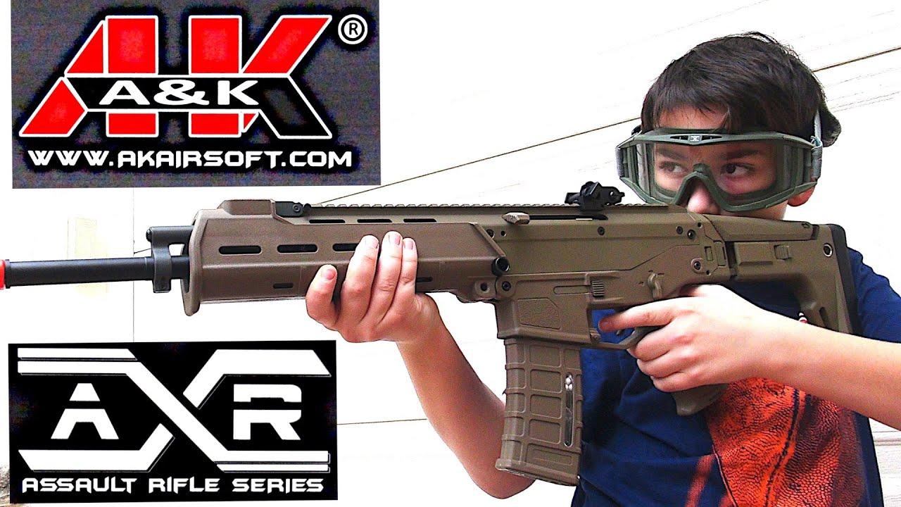 Acr Airsoft Gun a&k magpul masada acr airsoft gun aeg rifle with robert-andre! - youtube