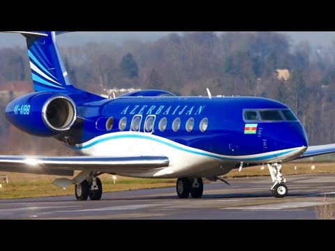 Gulfstream G650 4K-AI88 * Azerbaijan Government * Landing at Bern