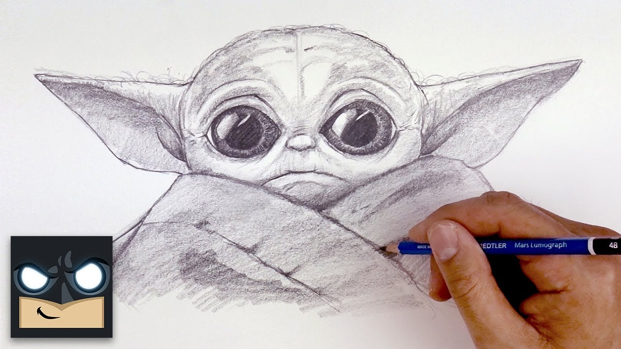 How To Draw Baby Yoda From The Mandalorian 14 Baby Yoda Drawing Tutorials