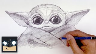 How To Draw Baby Yoda | The Mandalorian