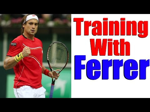 Tennis Practice - Training With David Ferrer