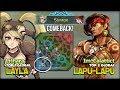 Comeback Must be Happen  Top 2 Global Lapu lapu ft Top 1 Global Layla   Mobile Legends