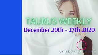 Taurus Weekly Love Check-in Tarot   (Leaving the past & walking into new love)  December 20-27, 2020