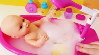 Best Learning Video forBaby bubble bath time water squirting bathtub shower potty change baby toy
