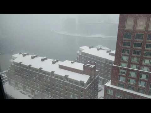 Boston, Massachusetts - First Snow 2016-2017