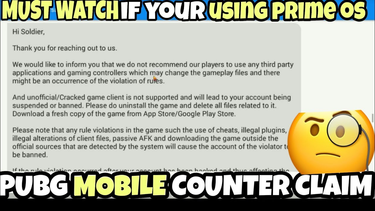 pubg mobile id ban for using prime os (part 2)