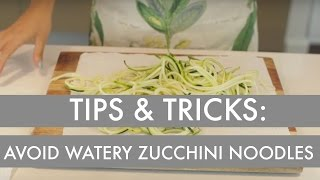 Tips & Tricks For Spiralized Cooking: How To Avoid A Watery Pasta Sauce With Zucchini Noodles