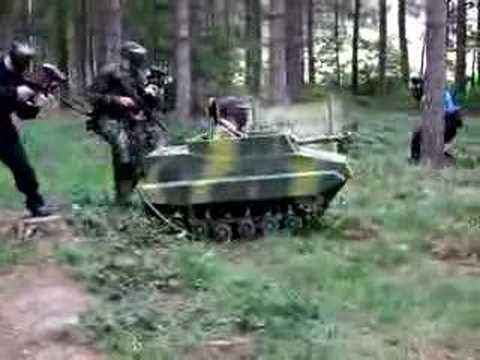 paintball tank at the ukpsf big game youtube. Black Bedroom Furniture Sets. Home Design Ideas