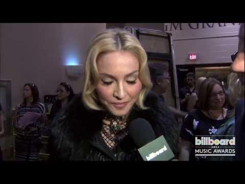 Madonna Backstage at the Billboard Music Awards 2013