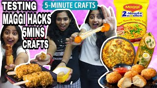 TESTING **VIRAL MAGGI HACKS** by 5 minute crafts [TAMIL] | 5 minutes crafts testing