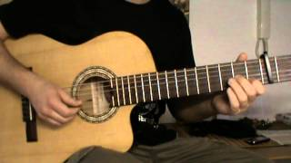 You Are Beautiful acoustic guitar cover with TAB - acoustic guitar lesson