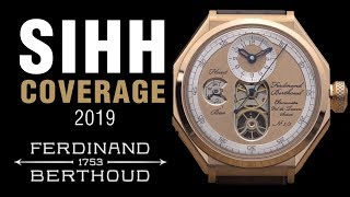SIHH 2019: Ferdinand Berthoud Limited Edition 'Oeuvre d'Or' Collection - FB1.1-2 and FB1.2-1