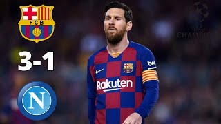 Fc barcelona vs napoli 3-1 goals & highlights | champions league 2020