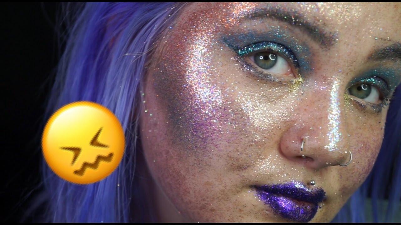 0ec65c6034e4b Full Face Using Only GLITTER Makeup Challenge