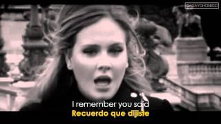 Adele ~ Someone Like You (Lyrics Sub. Spanish/Español) [HD] Official Video ✔