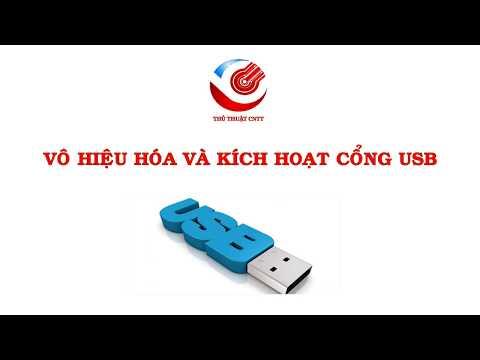 Vô Hiệu Hóa Cổng USB Trong Windows   How To Disable Or Enable USB Port