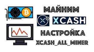 X-CASH налаштування майнера і прибутковість