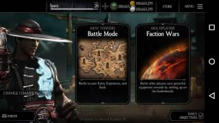 Leveling up character cards in MORTAL KOMBAT X. Using GAME KILLER