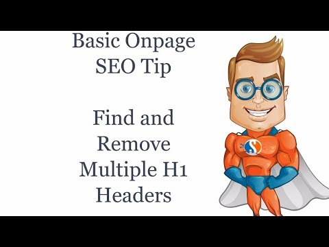 Basic On Page SEO Finding and Removing Multiple H1 Headings