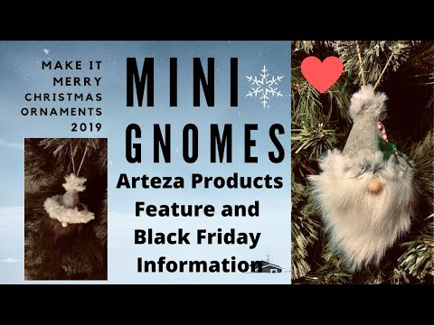 Mini Gnome Christmas Ornaments- Featuring Arteza Supplies Make It Merry Highly Requested! ❤️