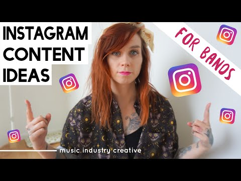 instagram content ideas for bands/ music artists | music marketing