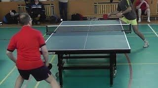 подача на вылет Эйс!! serve in table tennis on the flight A.Chirkov - A.Oganesian 25.03.17