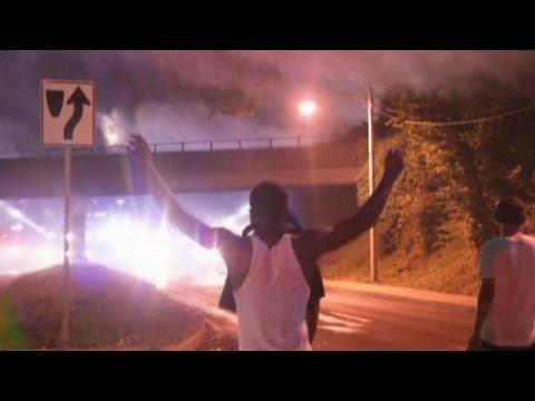 Ferguson Video: Tear Gas During Overnight Curfew