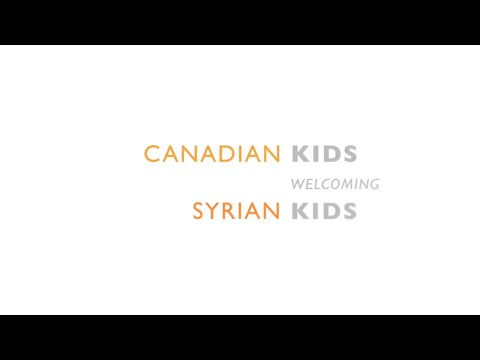 Canadian Children Welcome Their New Neighbours!