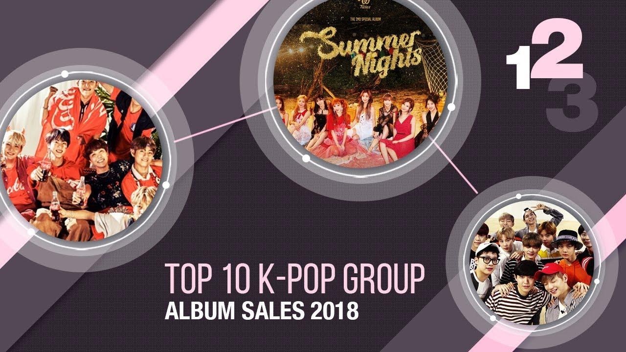 Top 10 K-Pop Group Album Sales 2018 Releases [Jan - Oct