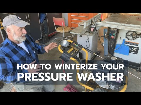 How to Winterize a Pressure Washer FAST