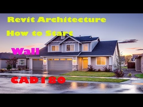 Revit Architecture - HOW TO create layout and wall