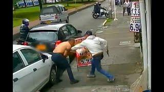 No se dejó robar de ladrón que le apuntó con un revólver en vía de Bogotá | Noticias Caracol
