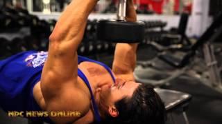 IFBB Pro Sadik Hadzovic Training Chest and Biceps at the East Coast Mecca