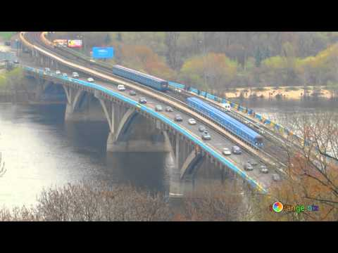 Kiev Metro bridge HD Video 4k Free for use