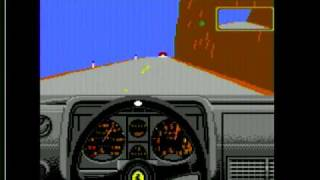 Commodore 128 with SuperCPU playing Test Drive