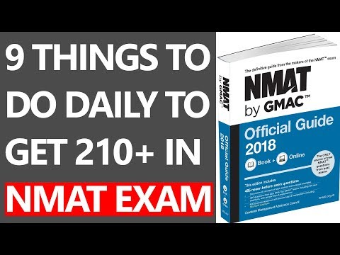 9 THINGS TO  DO DAILY TO  GET 210+ IN  NMAT EXAM