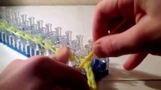 Обучение лёгкому браслету из резинок Raibow Loom Bands Урок 1
