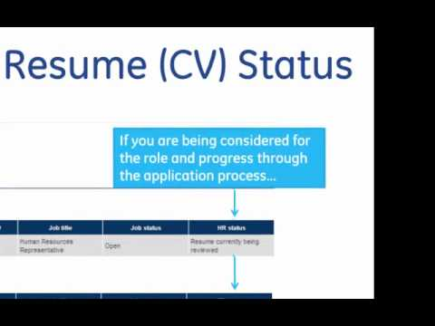 check your resume cv status for ge jobs youtube